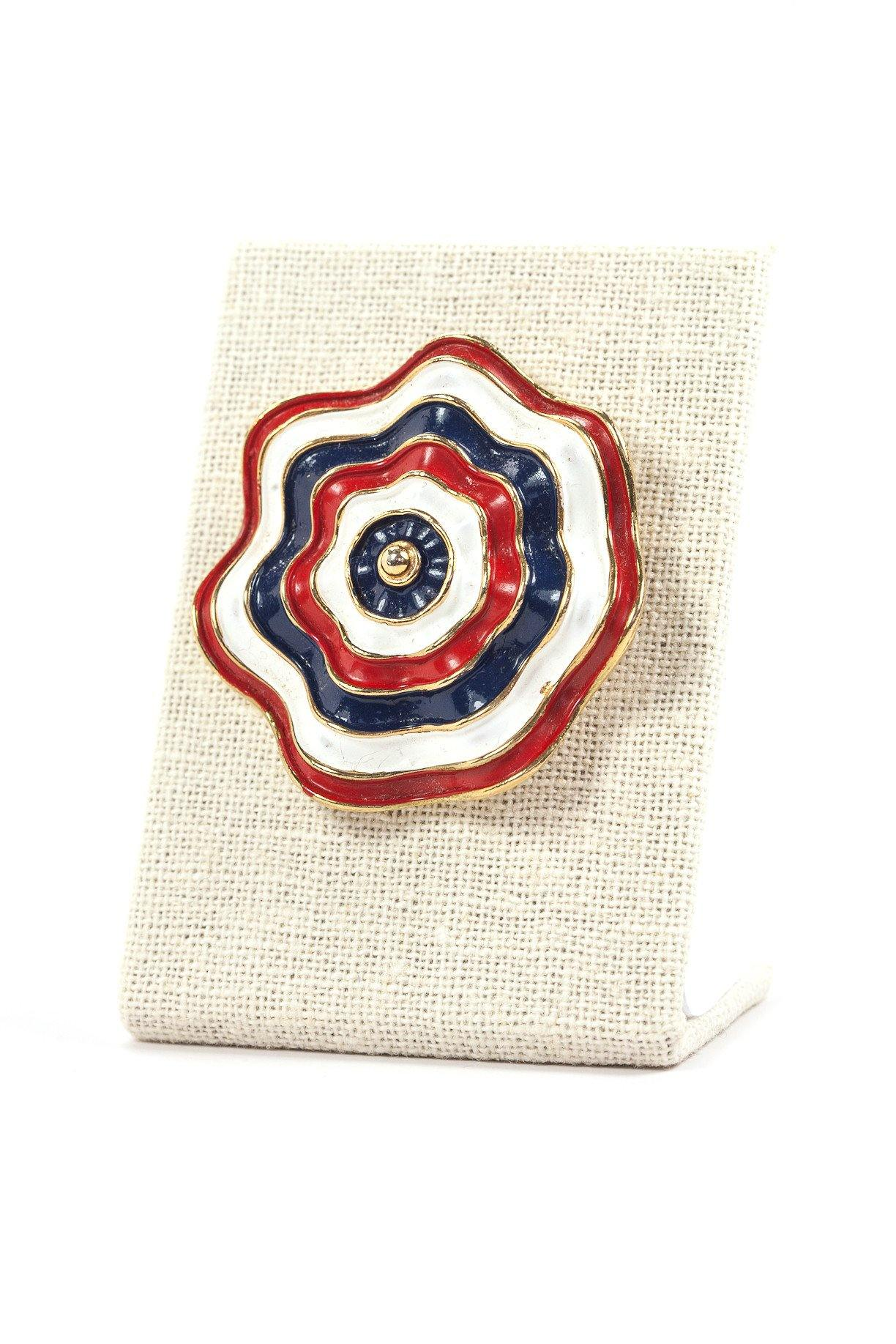 60's__Marvella__Red, White & Blue Brooch