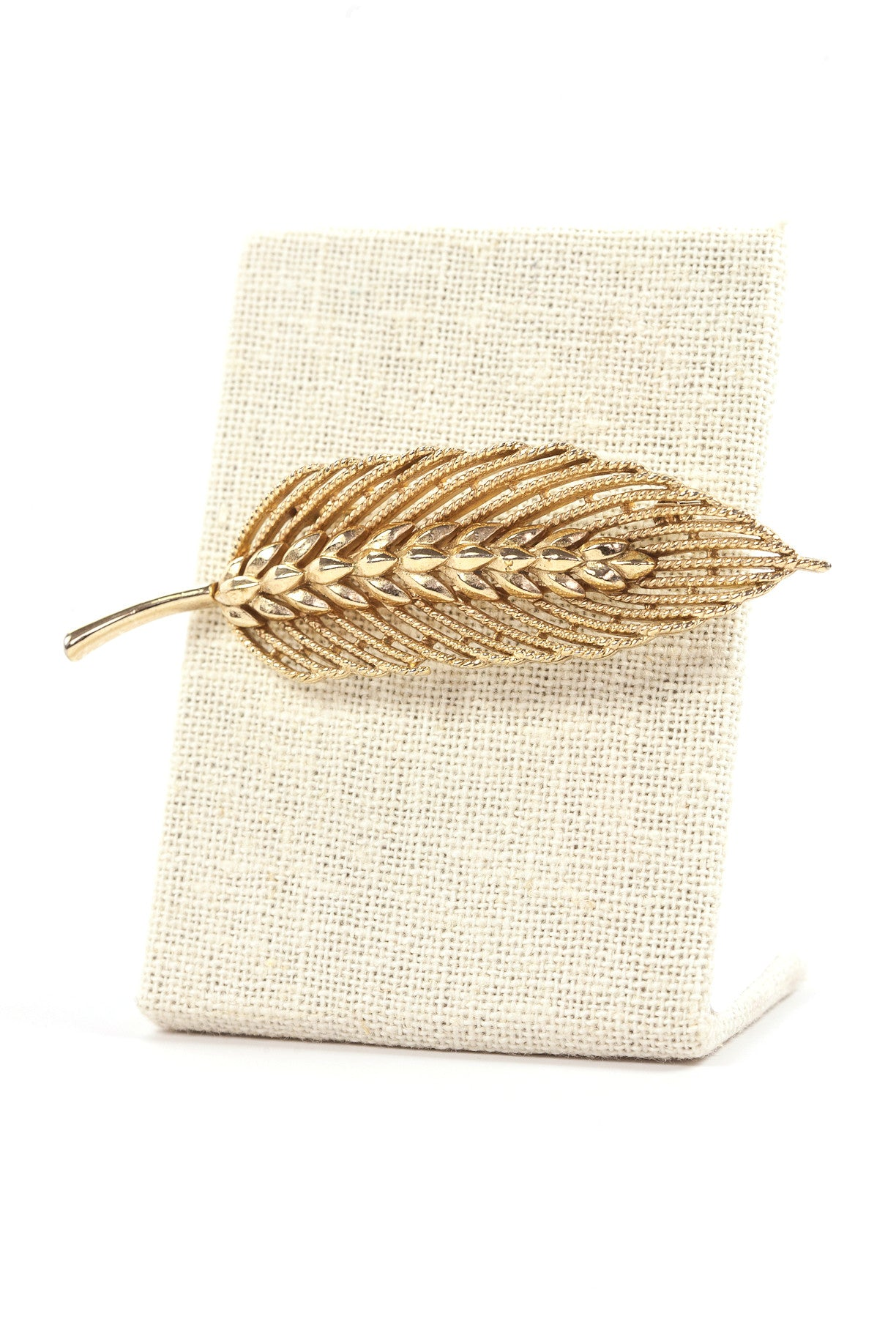 60's__Trifari__Feather Brooch