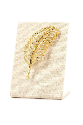 70's__BSK__Feather Brooch