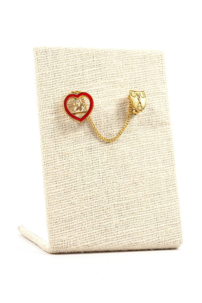 50's__Vintage__Mini Heart Pin