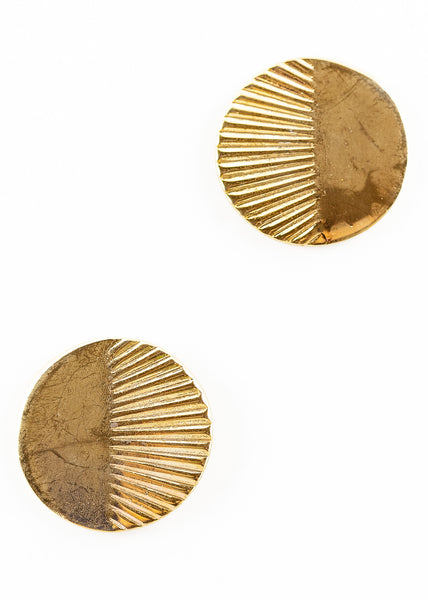 80's__Vintage__Etched Disc Earrings