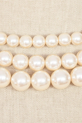 80's__Richelieu__Statement Pearl Necklace