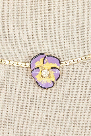60's__Goldette__Mini Floral Choker Necklace