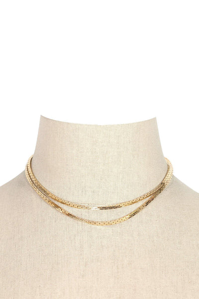60's__Trifari__Gold Layering Necklace