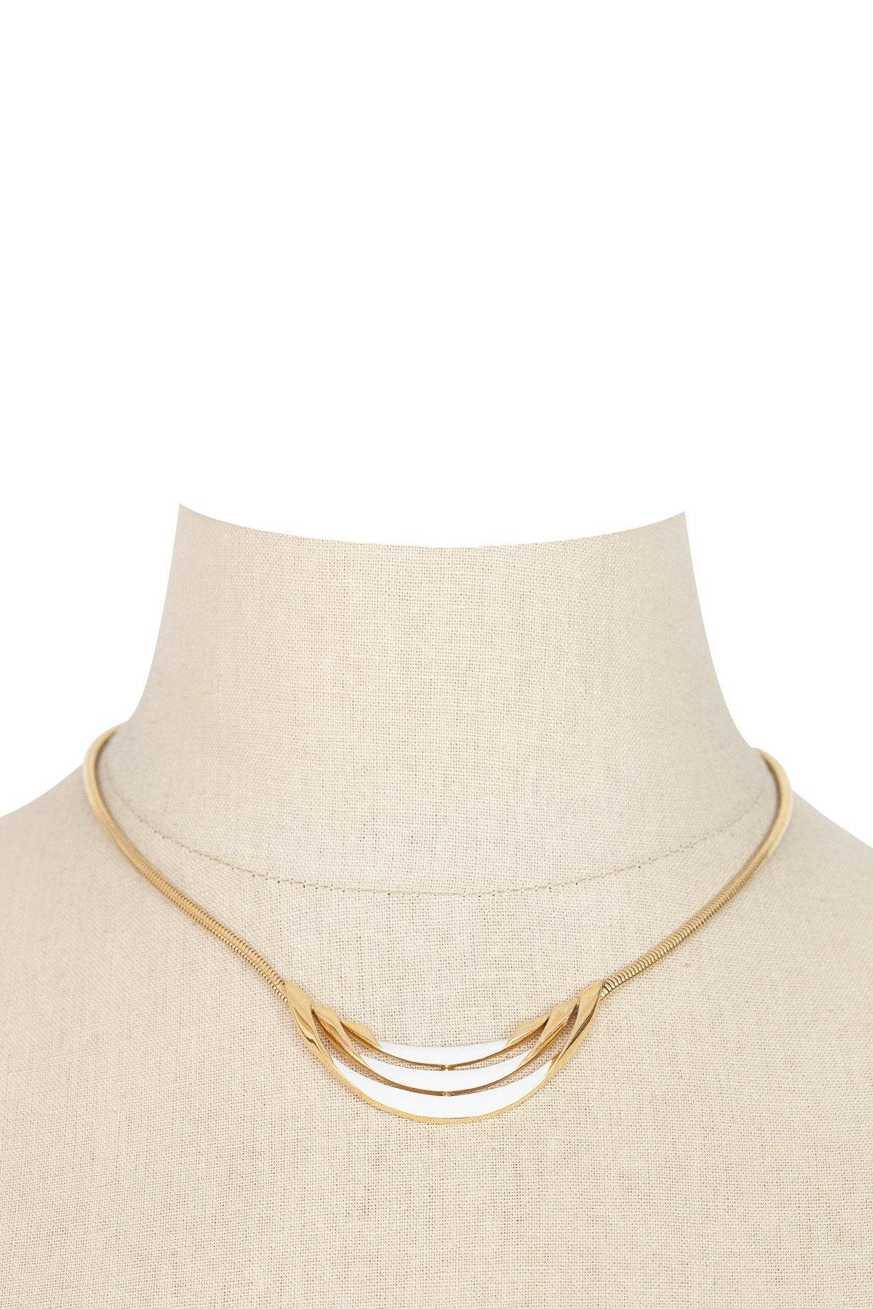 60's__Trifari__White Bar Necklace