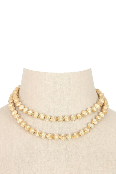50's__Trifari__Gold Layering Necklace