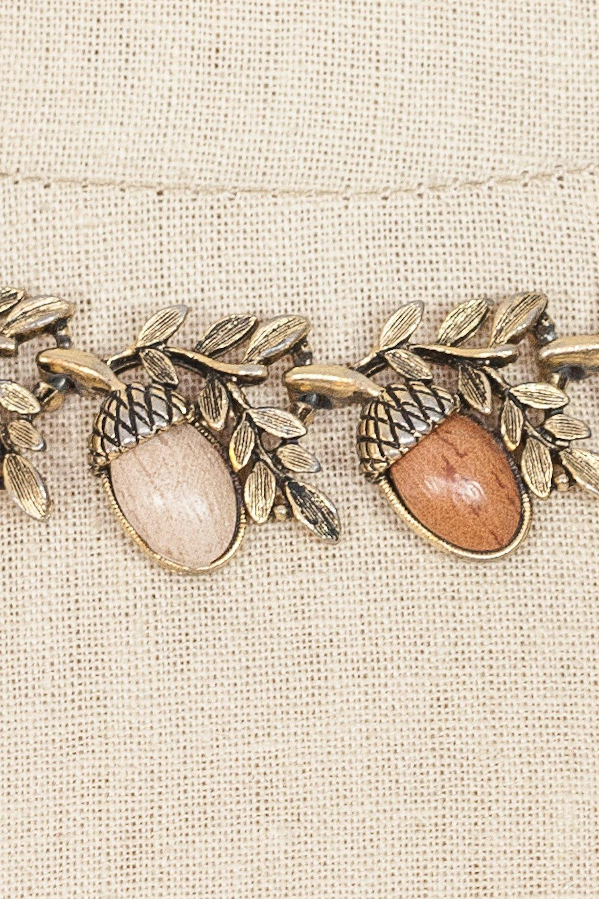 50's__Vintage__Acorn Statement Necklace