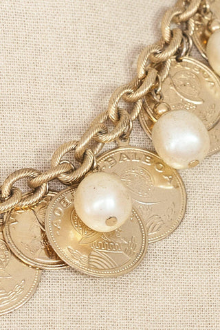 80's__Vintage__Coin Statement Necklace