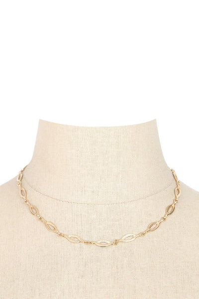 70's__Sarah Coventry__Dainty Ovals Necklace