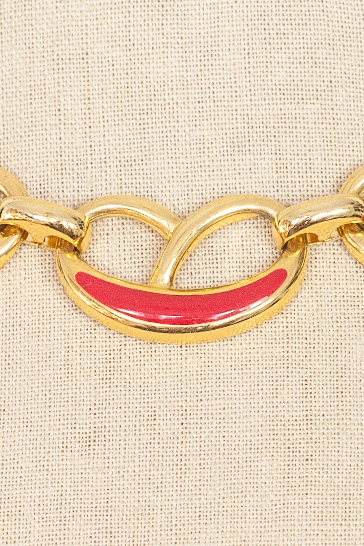 80's__Vintage__Red Statement Necklace