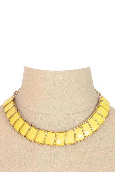 60's__Vintage__Yellow Statement Necklace
