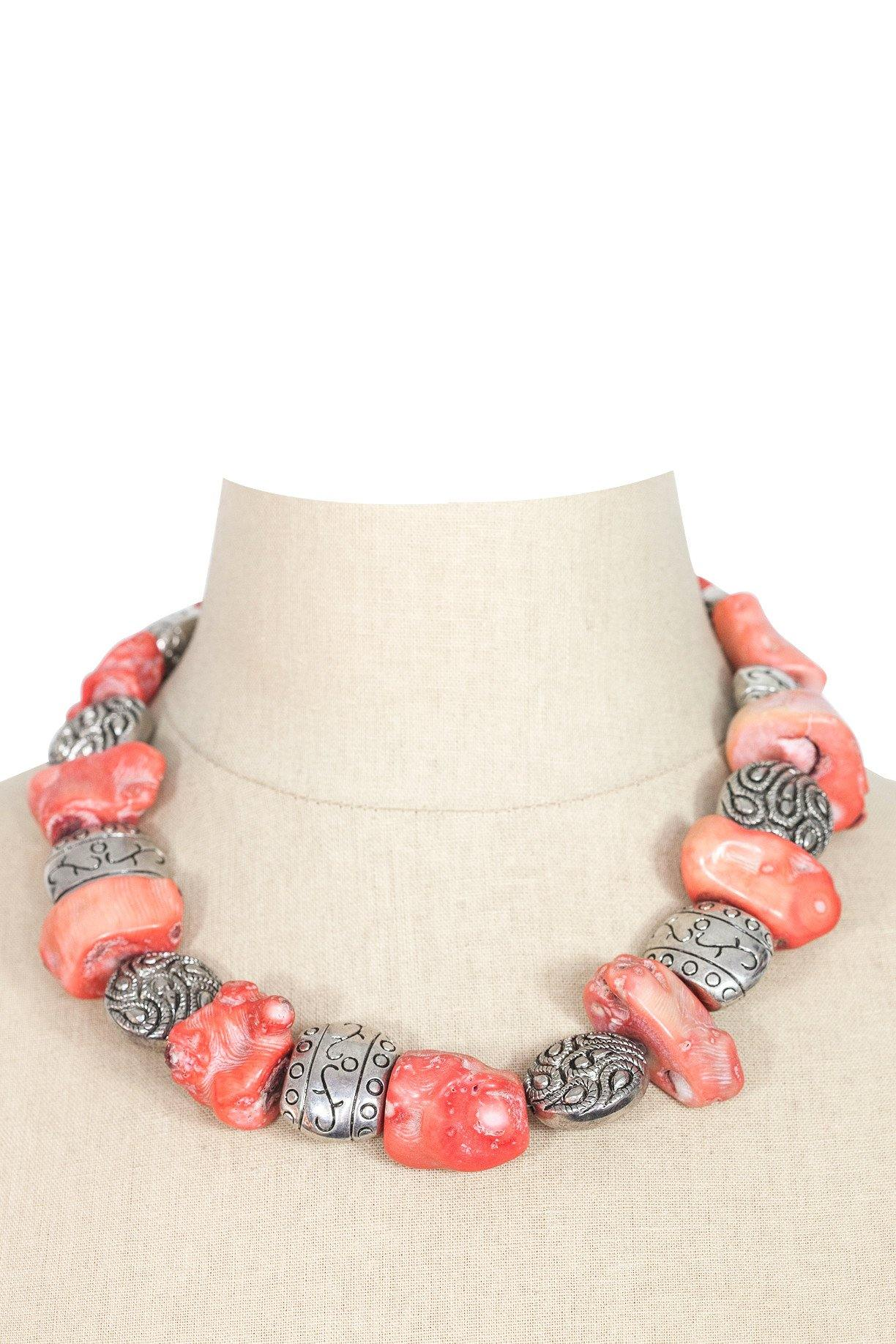80's__Vintage__Chunky Coral Necklace