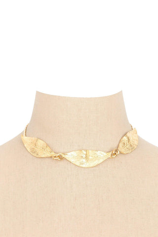 60's__Goldette__Statement Leaf Necklace