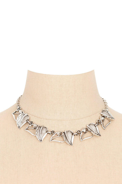 60's__Sarah Coventry__Open Leaf Necklace