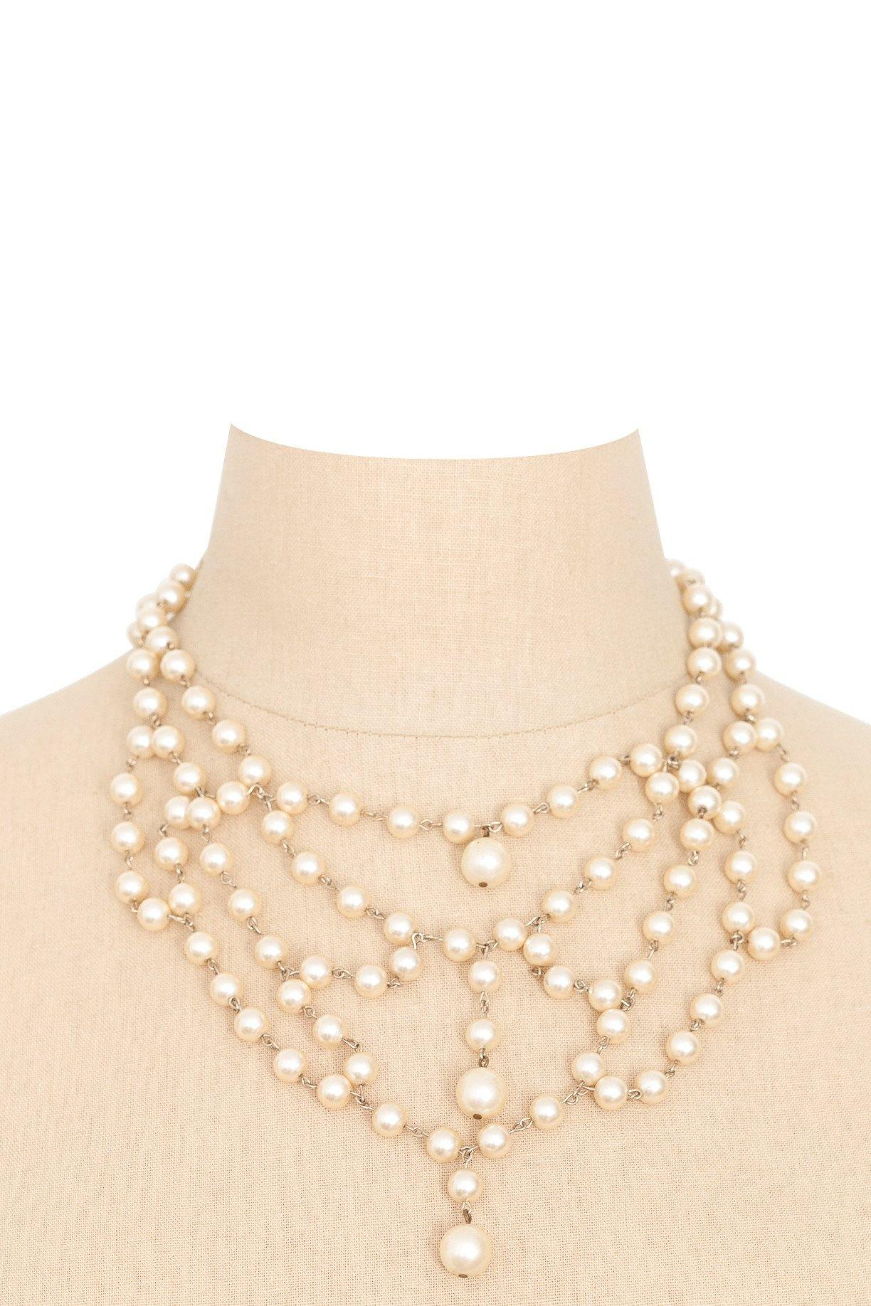 50's__Vintage__Pearl Statement Necklace