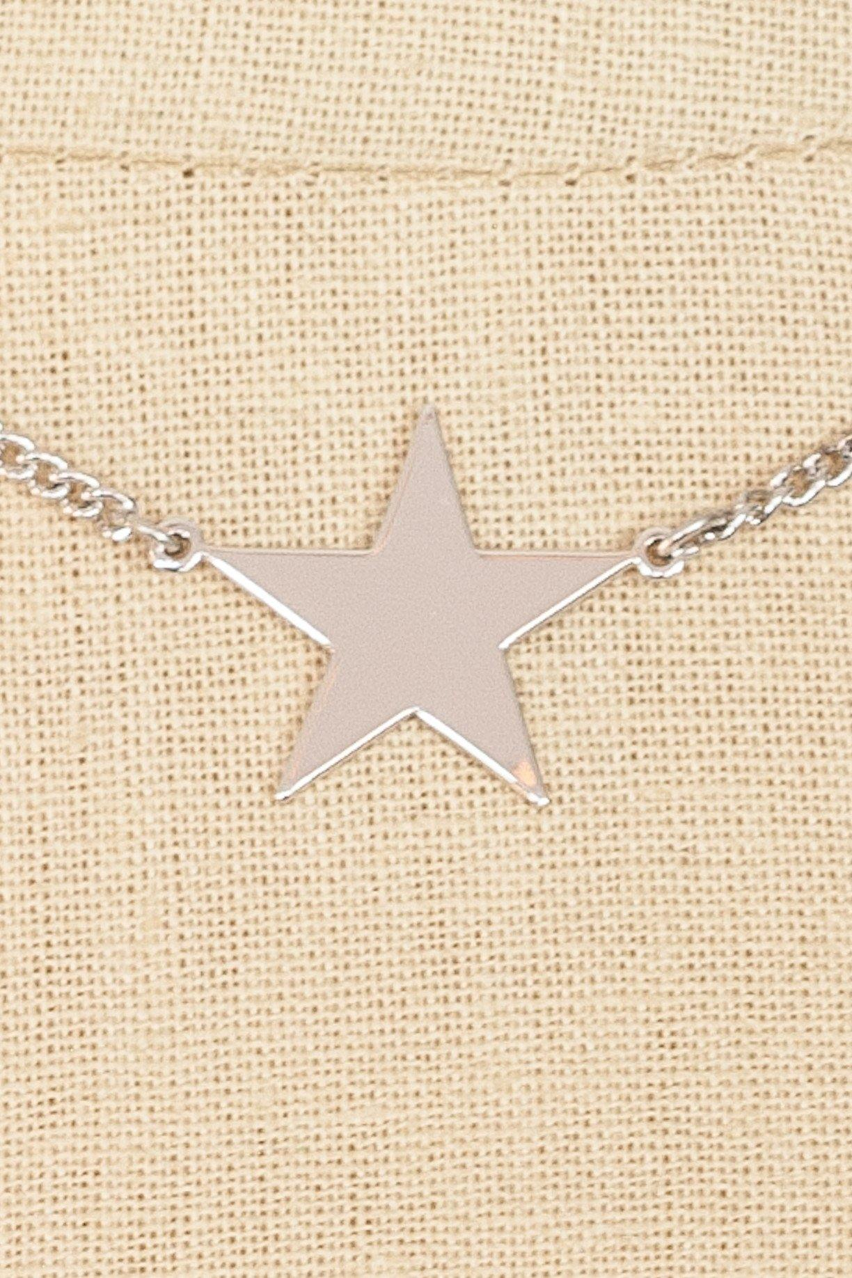80's__Avon__Silver Star Necklace