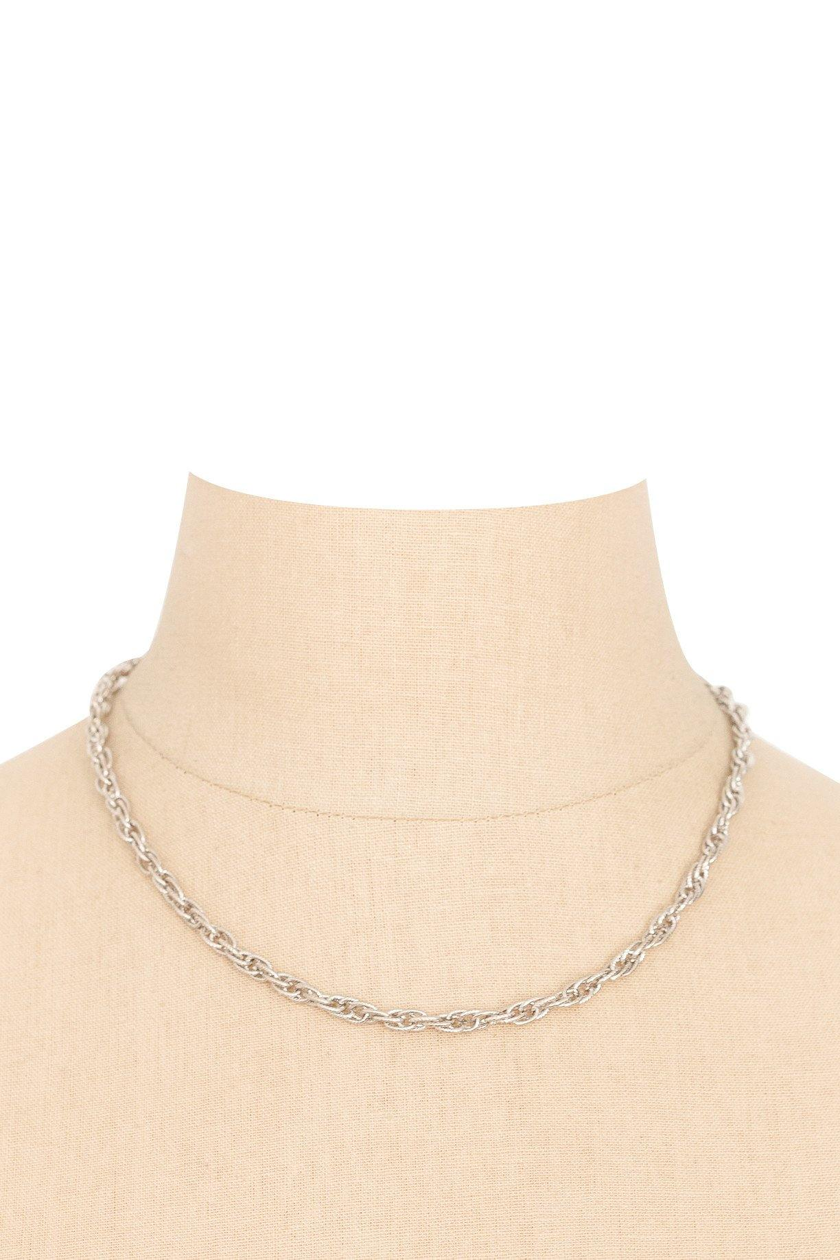 70's__Vintage__Dainty Silver Necklace