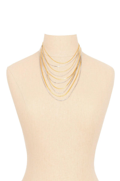 70's__Les Bernard__Multi Chain Necklace