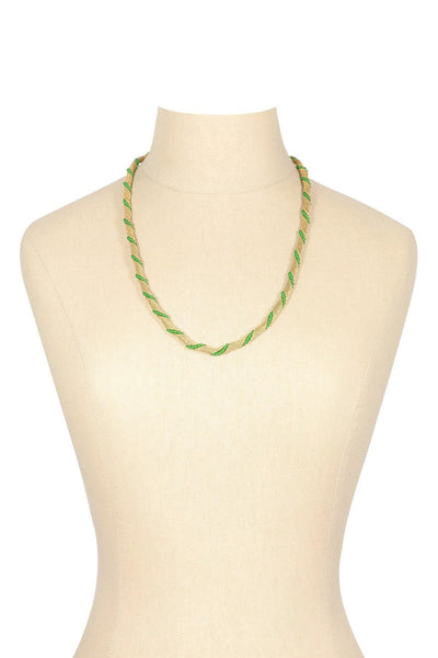 50's__Vintage__Mesh Twisted Necklace