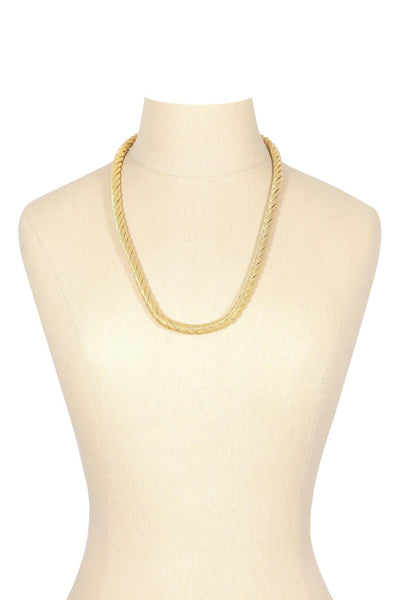 60's__Trifari__Gold Rope Necklace