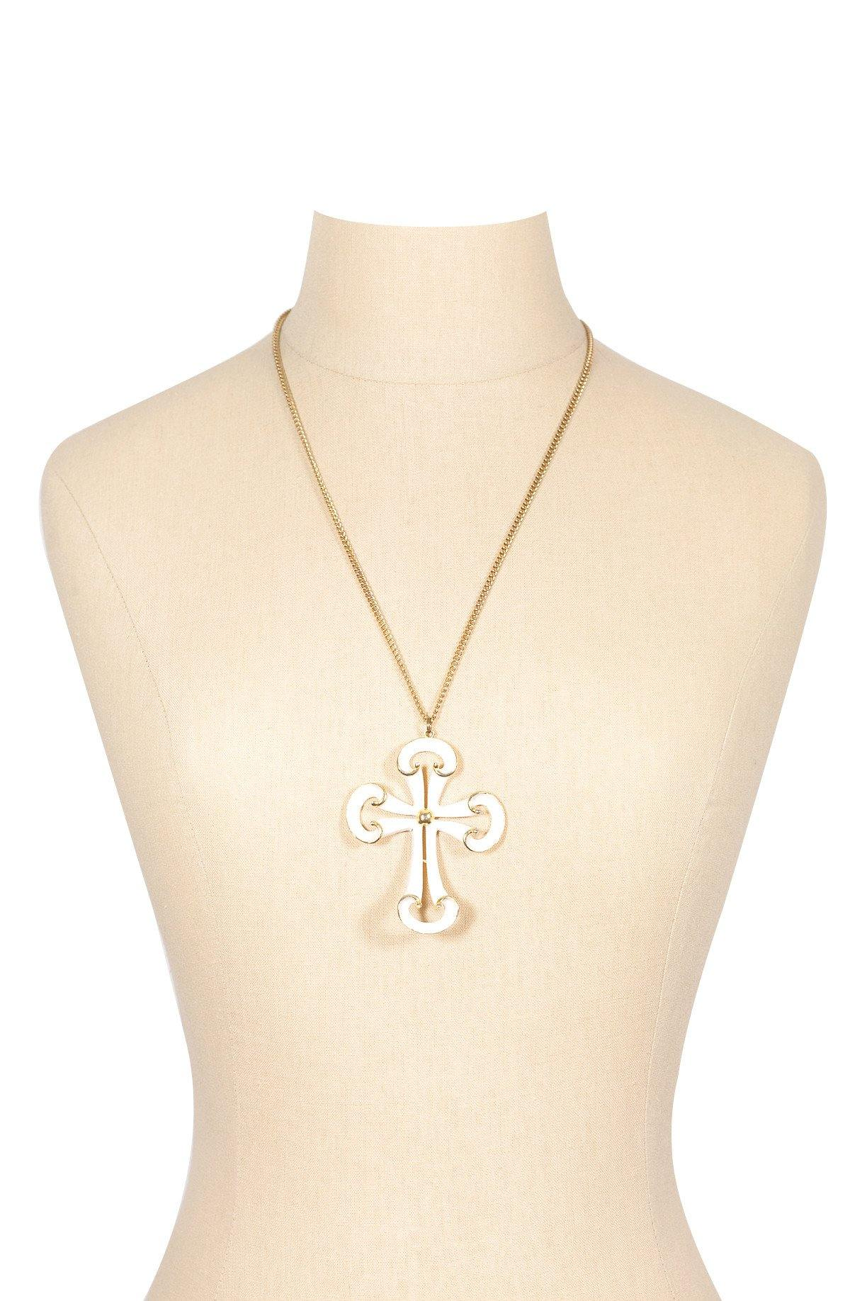 70's__Vintage__Cross Pendant Necklace