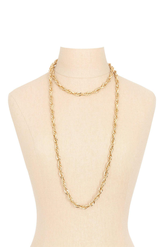 70's__Monet__Long Chunky Chain Necklace