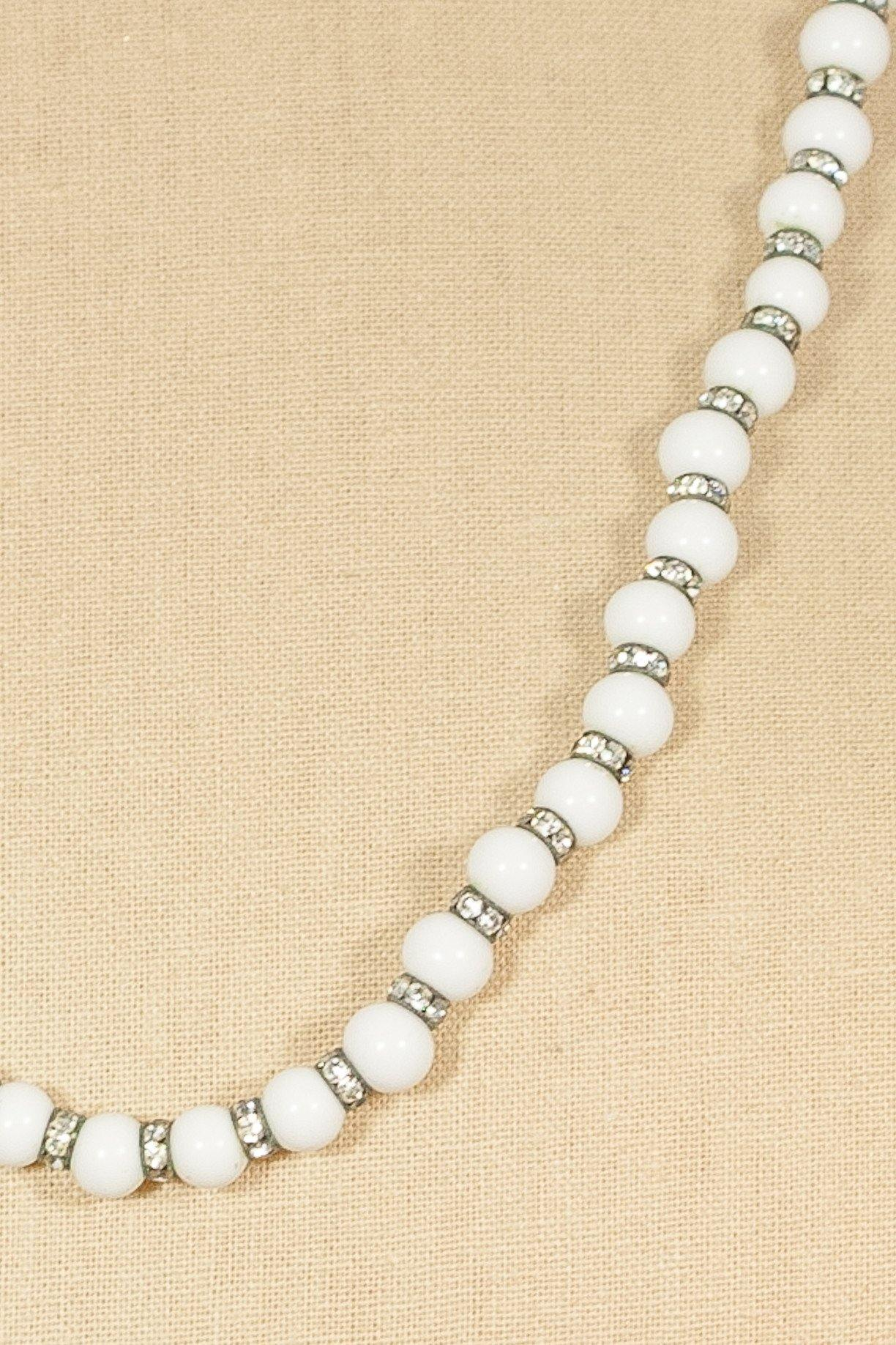 50's__Vintage__Long Glass Beaded Necklace