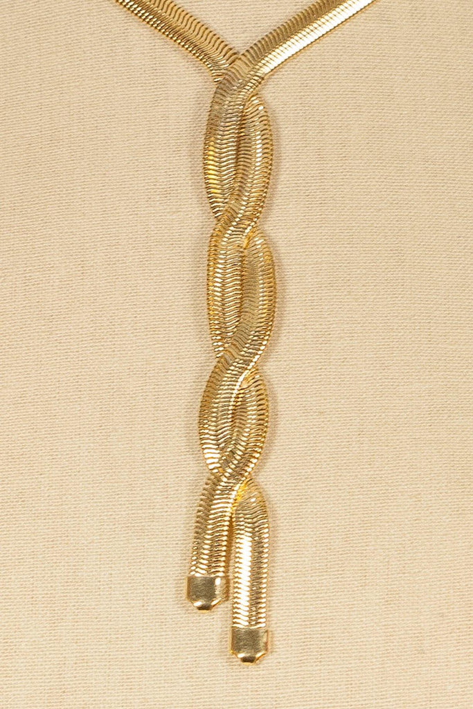 70's__Monet__Gold Braid Necklace
