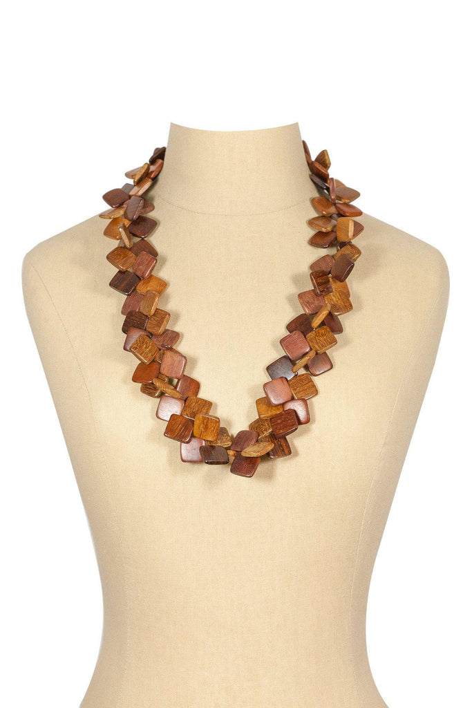 60's__Vintage__Wooden Statement Necklace