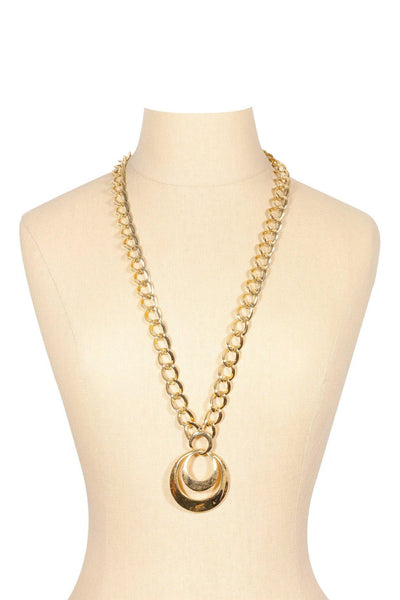 80's__Napier__Chunky Pendant Necklace