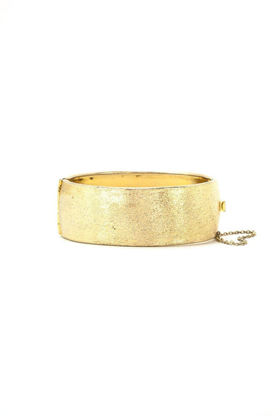 50's__Vintage__Etched Gold Bangle