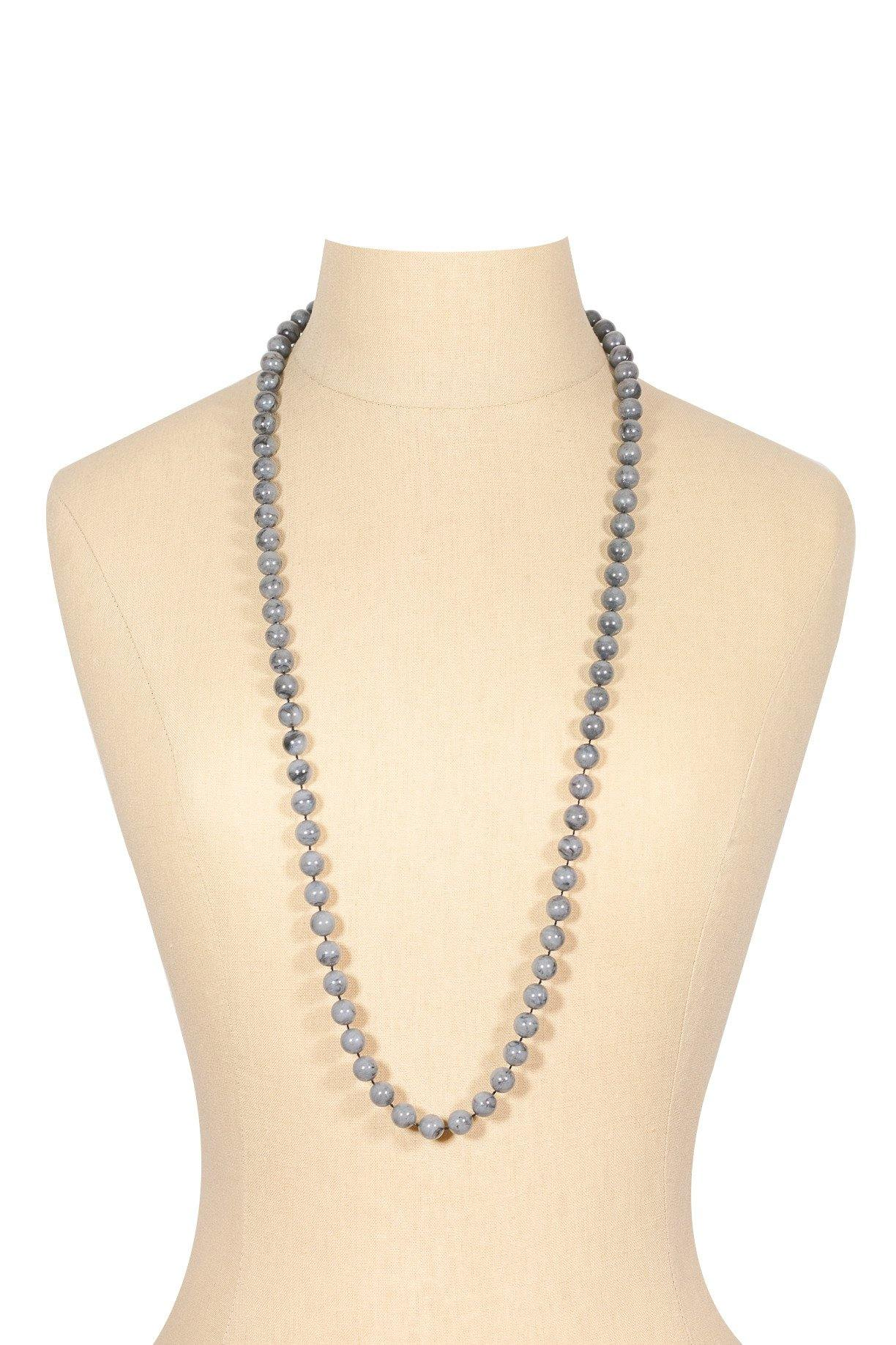 60's__Sarah Coventry__Grey Beaded Necklace