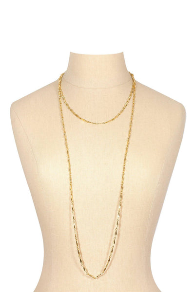 80's__Trifari__Dainty Long Link Necklace