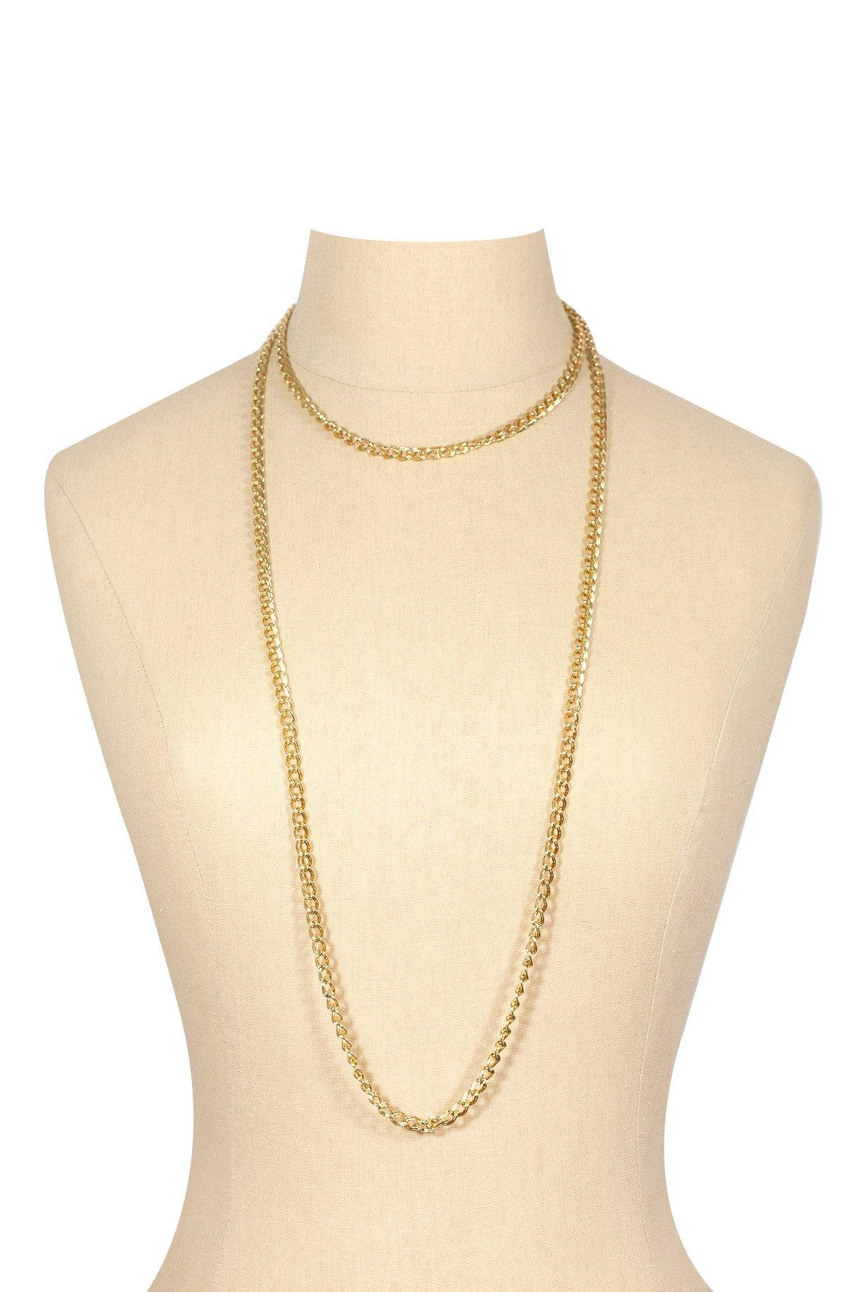 80's__Monet__Classic Long Link Necklace