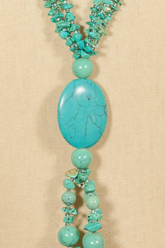 70's__Vintage__Turquoise Tassel Necklace