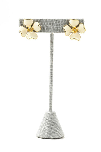 70's__Vintage__Floral Pierced Earrings