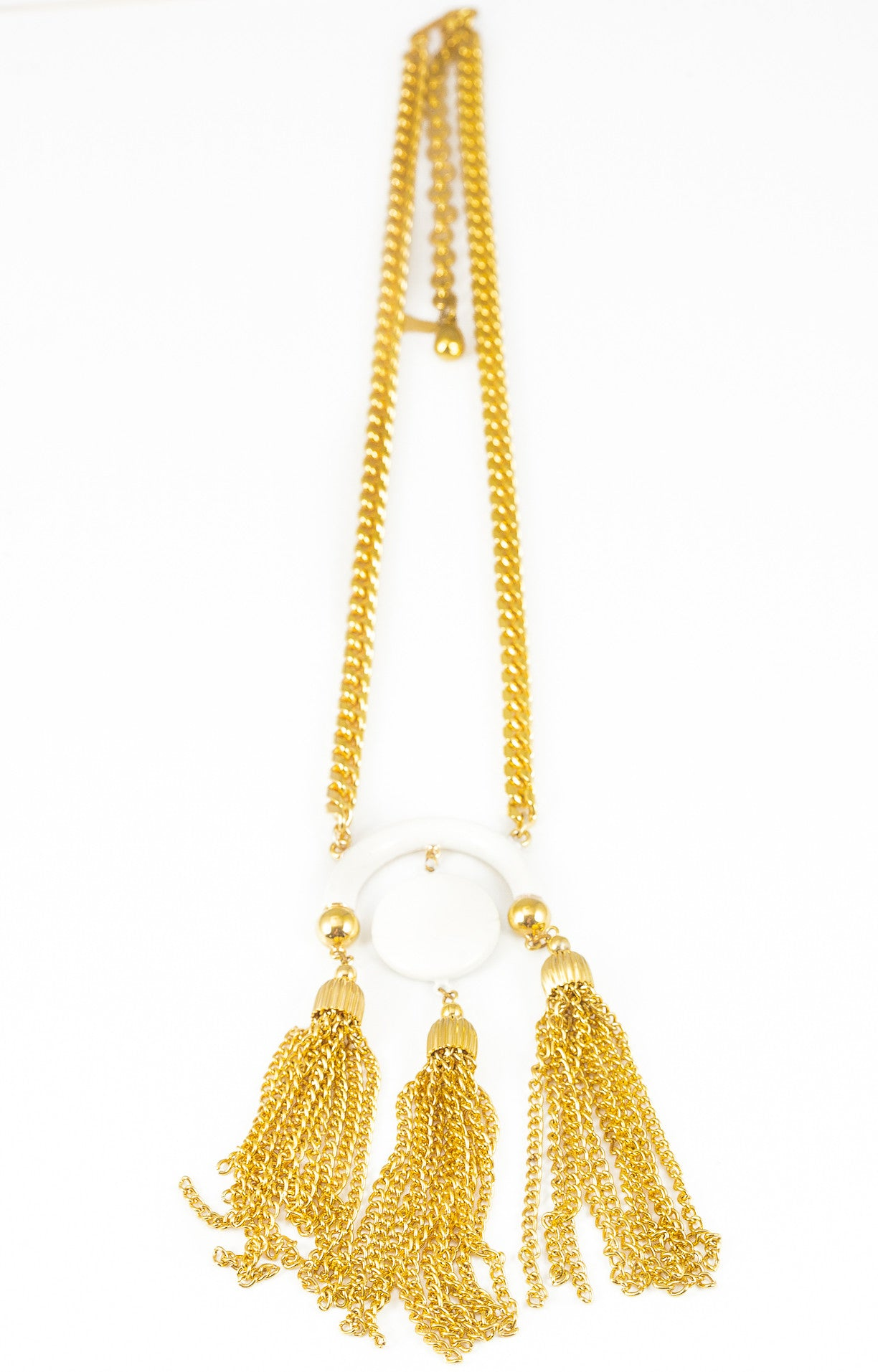 70's__Raquel__Triple Tassel Necklace