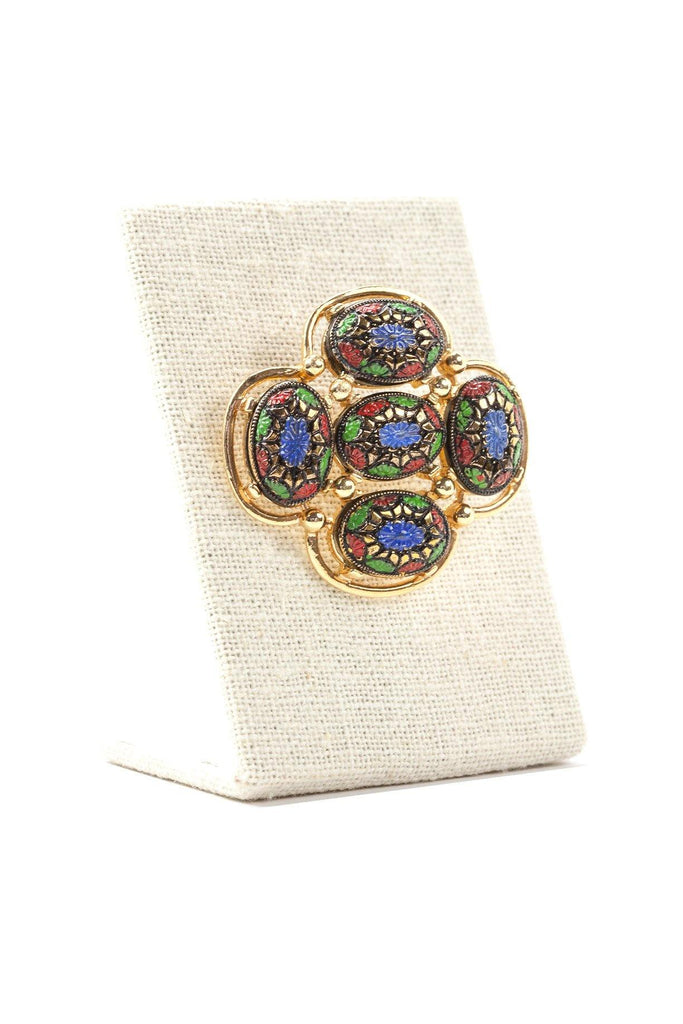 70's__Sarah Coventry__Floral Brooch