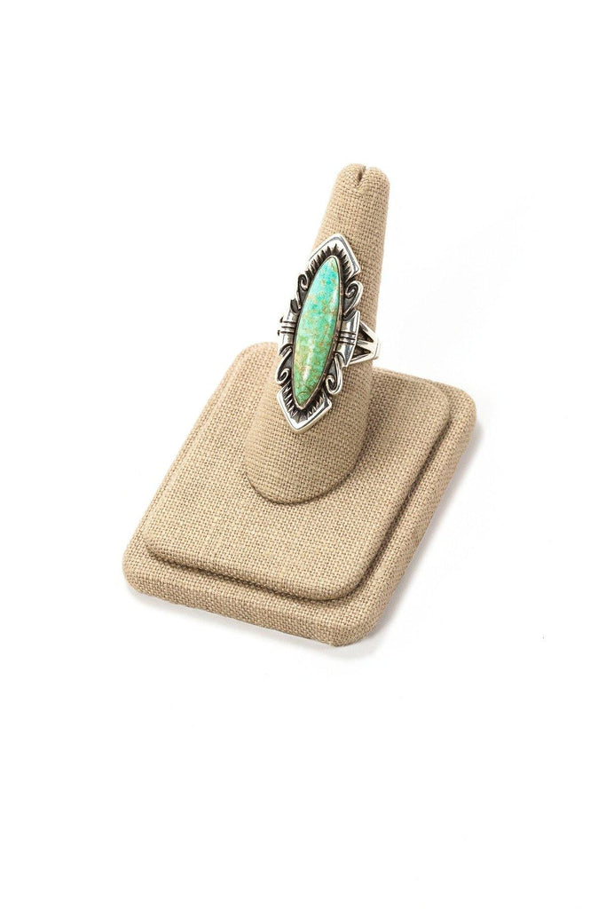 70's__Vintage__Turquoise Sterling Ring
