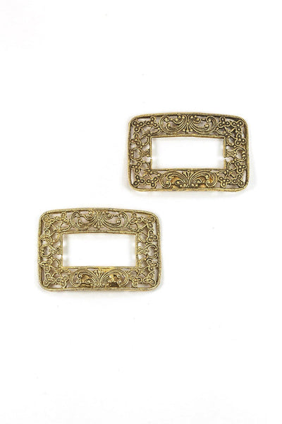 50's__Vintage__Filigree Shoe Clips