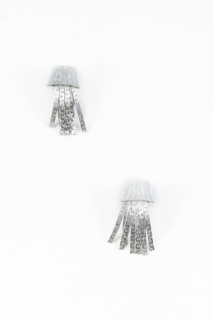 60's__Kramer__Classic Silver Tassel Earrings