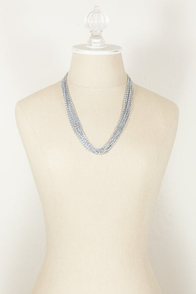 70's__Celebrity__Lightweight Multi Chain Necklace