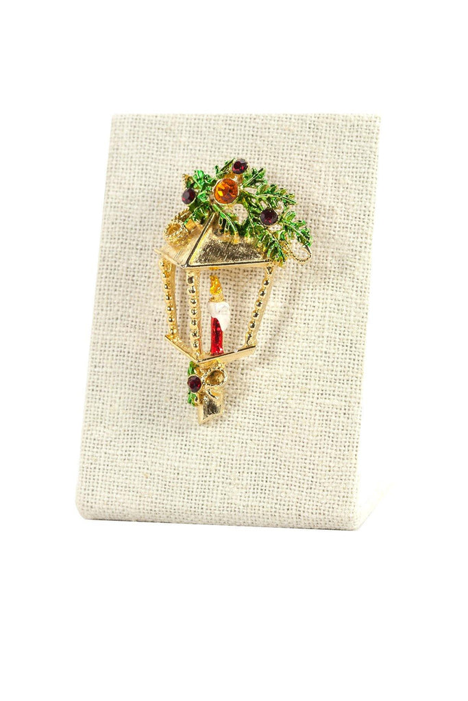 50s__Vintage__Holiday Lamp Brooch