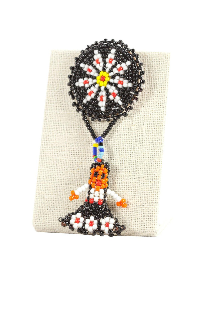 70's__Vintage__Beaded Navajo Brooch