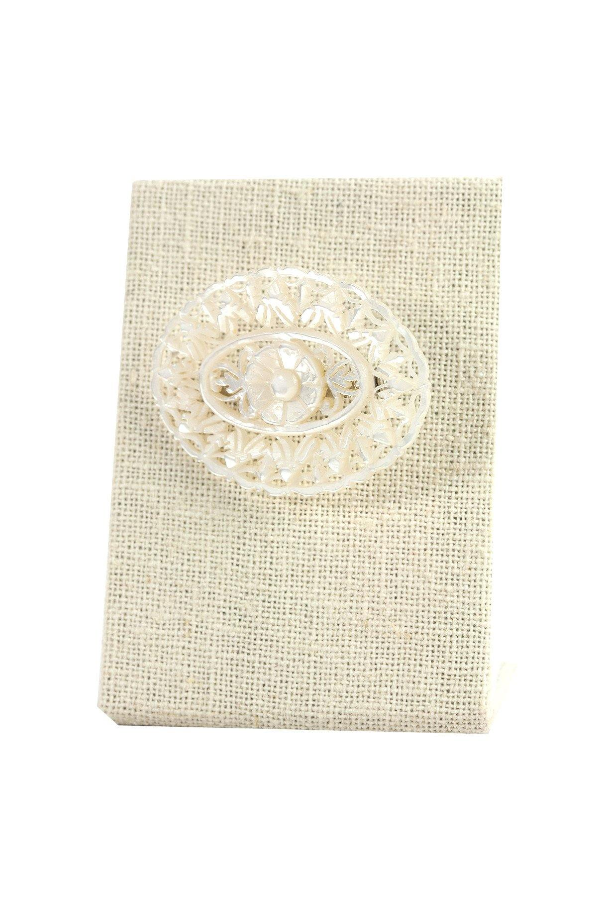 50's__Bethlehe__Mother of Pearl Brooch