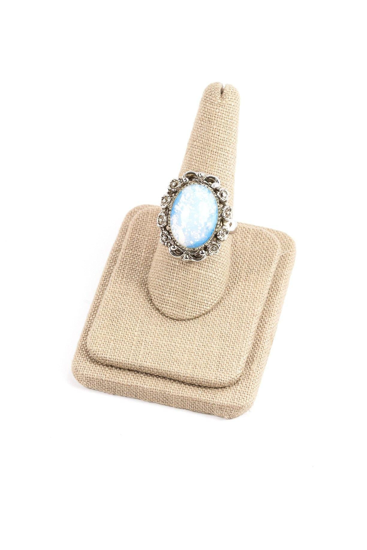 80's__Park Lane__Opal Cocktail Ring Sz 9