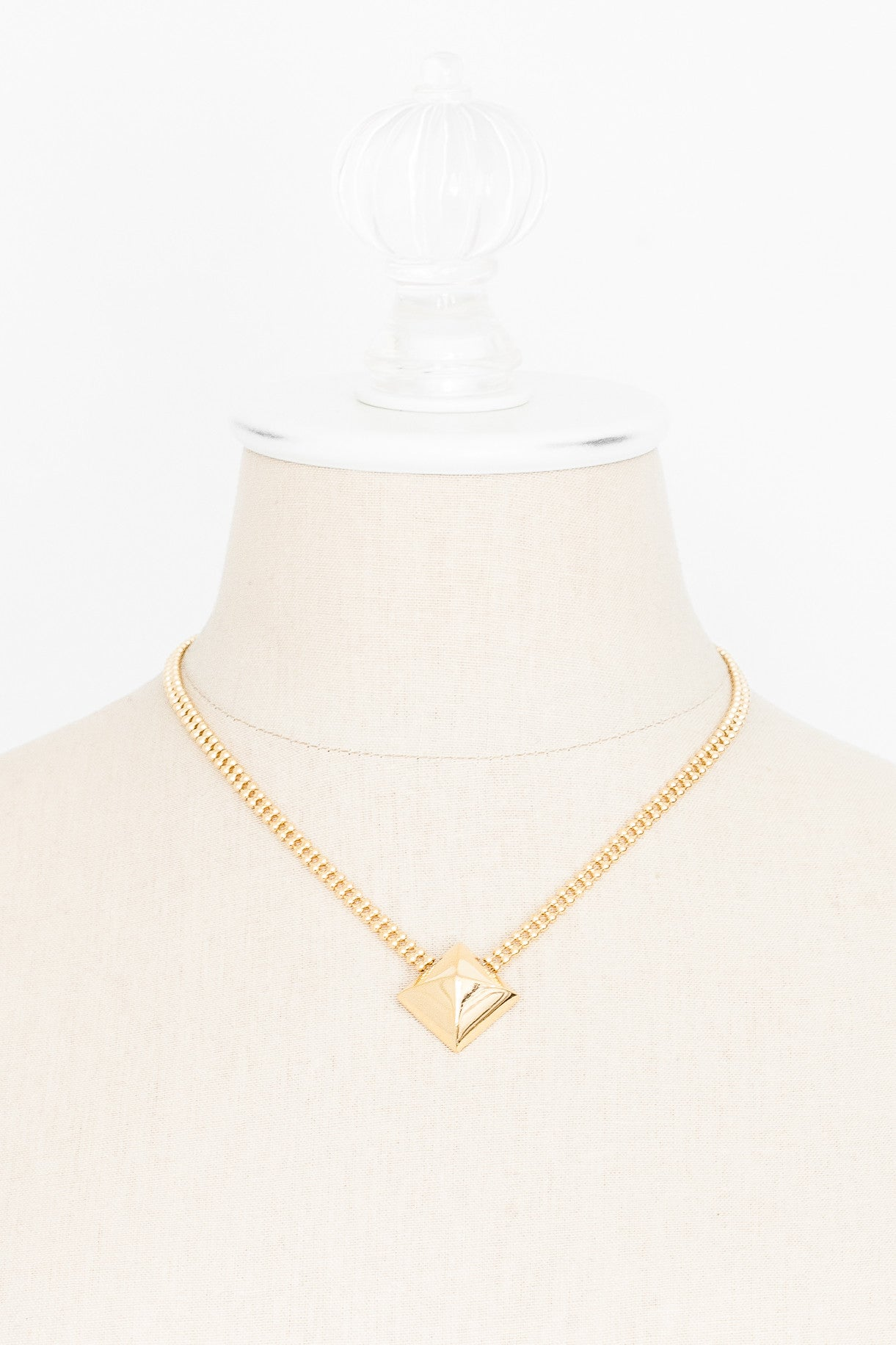 80's__Napier__Bold Square Necklace