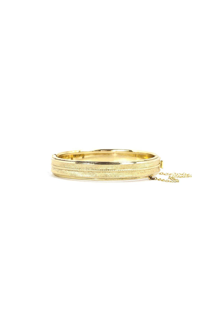 60's__Whiting Davis__Classic Etched Bangle