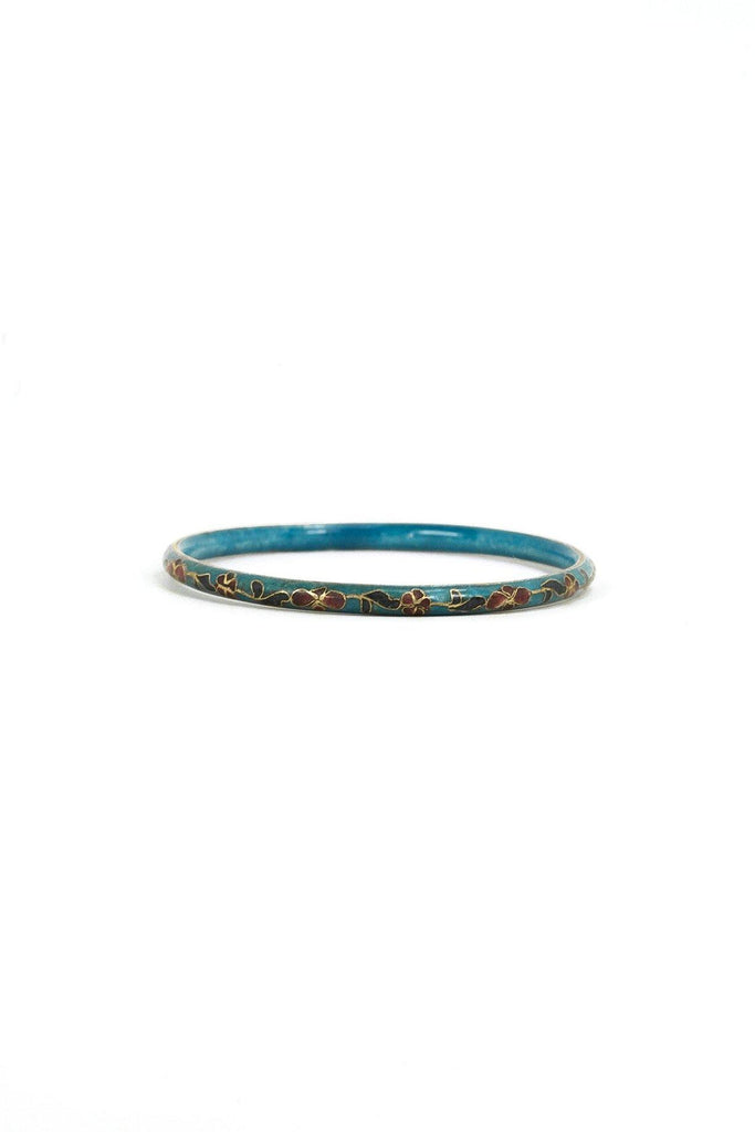 50's__Vintage__Floral Cloisonne Bangle