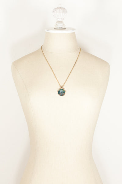 50's__Vintage__Stone Pendant Necklace